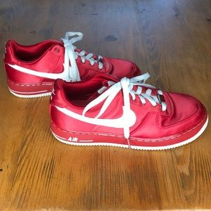 Silk Red AF1 Air Force One Nike Satin Rare Shoes